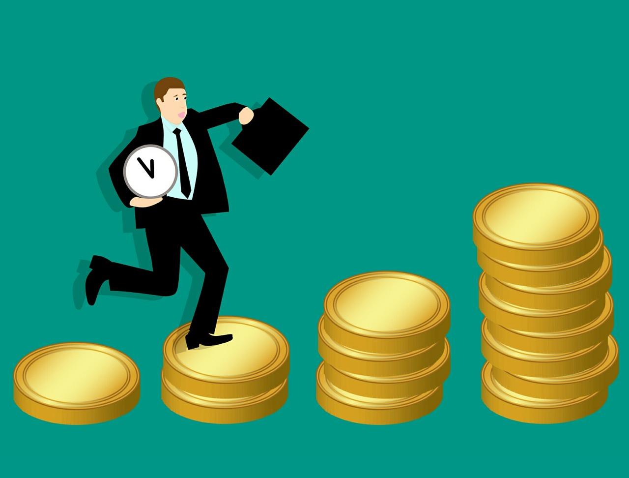 ビジネスで収入を増やしていく人のイラスト