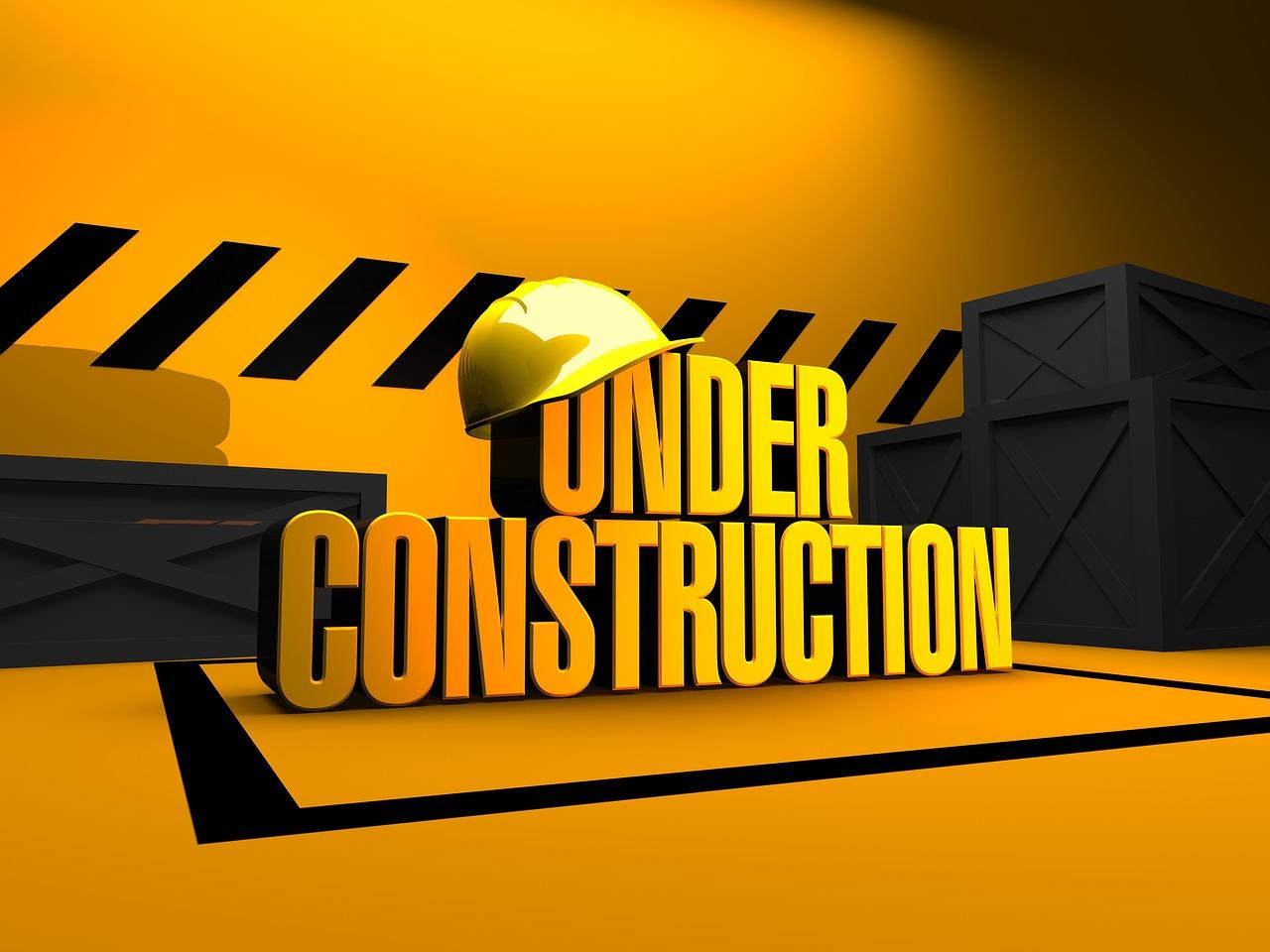 工事中の文字