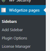 Widgetize pages Light
